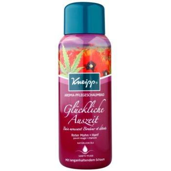 Kneipp Bath bagnoschiuma Red Poppy and Cannabis 400 ml