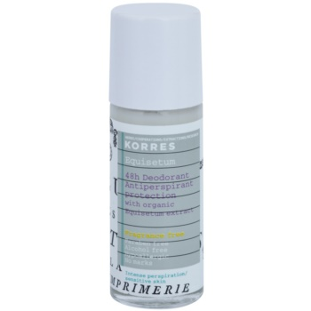 Korres Body Equisetum deodorante roll-on senza profumo 48 ore (Paraben Free, Alcohol Free, Hypoallergrnic, No Marks) 30 ml