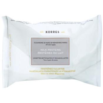 Korres Face Milk Proteins salviette struccanti detergenti 25 pz