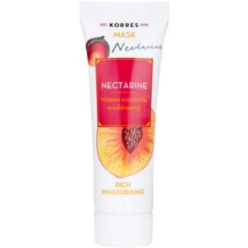 Korres Mask&Scrub Nectarine maschera idratante intensiva 18 ml