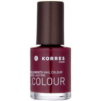 Korres Decorative Care Nail Colour smalto per unghie colore 57 Deep Red (Myrrh & Oligoelements) 10 ml