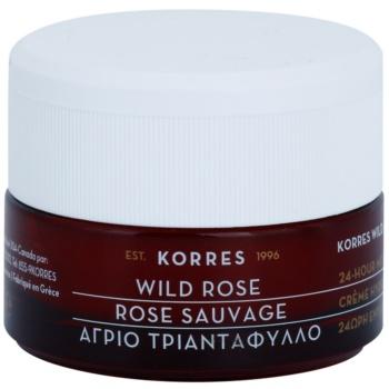 Korres Face Wild Rose crema illuminante e idratante per pelli miste e grasse 40 ml