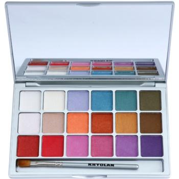 Kryolan Basic Eyes palette di ombretti 18 colori colore V1 Interferenz 20 g