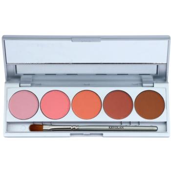 Kryolan Basic Eyes palette di ombretti 5 colori con specchietto e applicatore colore Florence Matt 7,5 g
