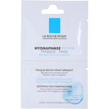 La Roche-Posay Hydraphase maschera idratante lenitiva per pelli sensibili e secche (Soothing Rehydrating Mask) 12 ml