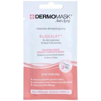 L'biotica DermoMask Anti-Aging maschera per recuperare la densità della pelle 40+ (4% Idaelift, 2% Argan Oil, 1% Hyaluronic Acid) 12 ml