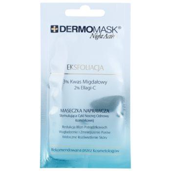 L'biotica DermoMask Night Active maschera esfoliante per rigenerare la superficie della pelle (3% Almond Acid, 2% Ellagi-C) 12 ml