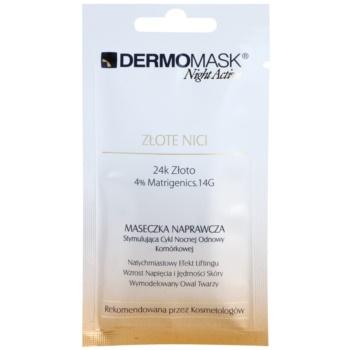L'biotica DermoMask Night Active maschera liftante e rassodante con oro a 24 carati 12 ml