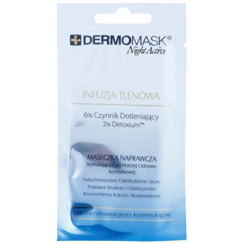 L'biotica DermoMask Night Active maschera ossigenante (6% Factor Oxygenating, 2% Detoxium) 12 ml