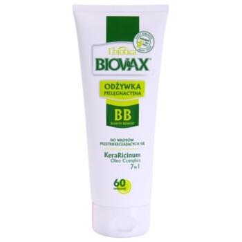L'biotica Biovax Dull Hair balsamo idratante per capelli e cuoio capelluto grassi KeraRicinum Oleo Complex(Paraben & SLS Free) 200 ml