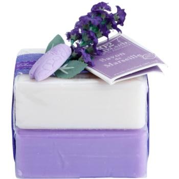 Le Chatelard 1802 Natural Soap sapone francese naturale di lusso (Lavender + Jasmine) 2 x100 g