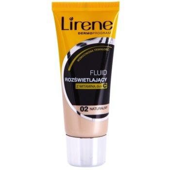 Lirene Vitamin C fondotinta liquido illuminante per un effetto lunga durata colore 02 Natural 30 ml