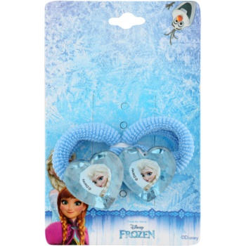 Lora Beauty Disney Frozen elastici per capelli a forma di cuore (Blue) 2 pz