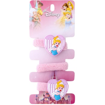 Lora Beauty Disney Cinderella elastici per capelli a forma di cuore (Pink) 3 pz