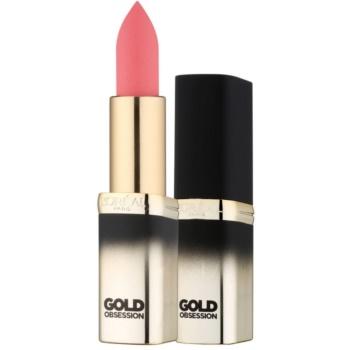 L'Oréal Paris Color Riche Gold Obsession rossetto con oro a 24 carati colore Pink Gold 7 ml