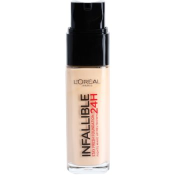 L'Oréal Paris Infallible fondotinta liquido lunga tenuta colore 125 Natural Rose (Stay Fresh Foundation 24H) 30 ml