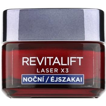 L'Oréal Paris Revitalift Laser X3 crema notte rigenerante anti-age (Centella Asiatica + 3% Pro-Xylanu) 50 ml