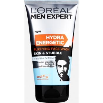 L'Oréal Paris Men Expert Hydra Energetic X gel detergente viso con effetto ammorbidente per la barba (Skin & Stubble) 150 ml