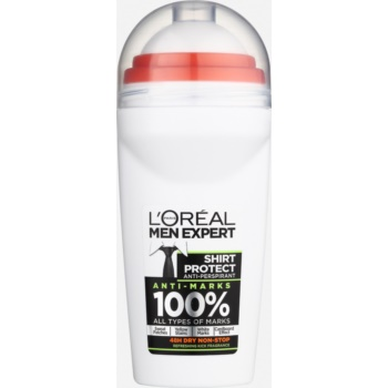 L'Oréal Paris Men Expert Shirt Protect antitraspirante roll-on (Anti-Marks 100%) 50 ml