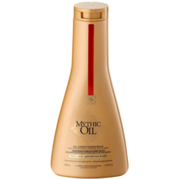 L'Oréal Professionnel Mythic Oil balsamo per capelli forti e ribelli (Oil Conditioning Balm - High Concentration Argan Oil with Myrrh) 200 ml