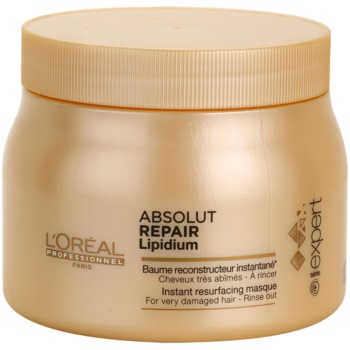 L'Oréal Professionnel Série Expert Absolut Repair Lipidium maschera rigenerante per capelli molto danneggiati (Instant Resurfacing Masque for Very Damaged Hair) 500 ml