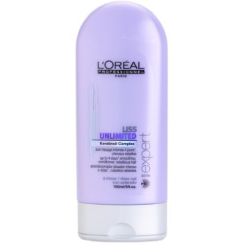 L'Oréal Professionnel Série Expert Liss Unlimited balsamo lisciante per capelli ribelli e crespi (Smoothing Conditioner for Rebellious Hair) 150 ml