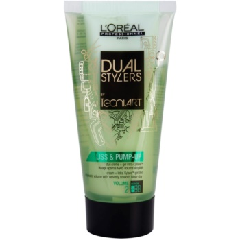 L'Oréal Professionnel Tecni Art Dual Stylers crema-gel per uno styling liscio e voluminoso (Cream + Intra-Cylane Gel Duo Dramatic Volume with Velvetly Smooth Blow-Dry, Force 2) 150 ml