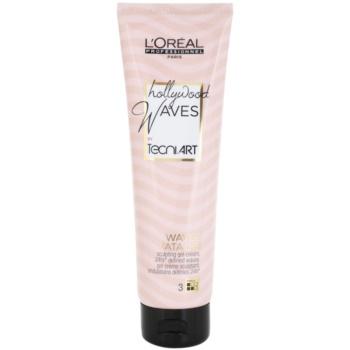 L'Oréal Professionnel Tecni Art Hollywood Waves crema-gel per definizione e forma Force 3 (Waves Fatales, 24h Defined) 150 ml