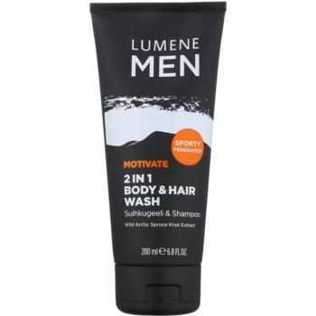 Lumene Men Motivate gel doccia per corpo e capelli 200 ml