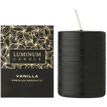 Luminum Candle Premium Aromatic Vanilla candela profumata   medio (Pillar 60 - 80 mm, 32 Hours)