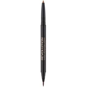 Makeup Revolution Ultra Brow Arch & Shape matita per sopracciglia 2 in 1 colore Fair 1,05 g