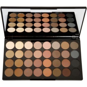 Makeup Revolution Flawless Matte palette di ombretti (32 Ultra Professional Matte Eyeshadows) 16 g