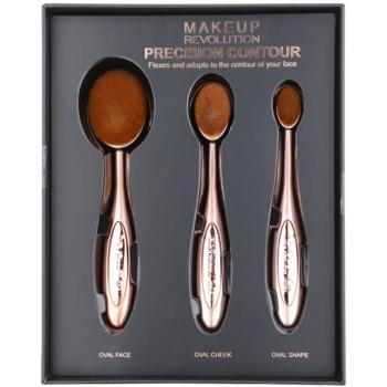 Makeup Revolution Pro Precision Brush kit di pennelli per contouring 3 pz