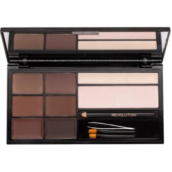Makeup Revolution Ultra Brow palette sopracciglia colore Medium to Dark (The Ultimate Brow Enhancing Kit) 18 g