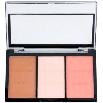 Makeup Revolution Ultra Sculpt & Contour palette contorno viso colore Ultra Fair C01 11 g