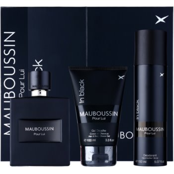 Mauboussin Mauboussin Pour Lui in Black kit regalo I. eau de parfum 100 ml + gel doccia 100 ml + deodorante in spray 150 ml