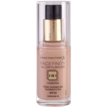 Max Factor Facefinity fondotinta 3 in 1 colore 30 Porcelain SPF20 (All Day Flawless) 30 ml
