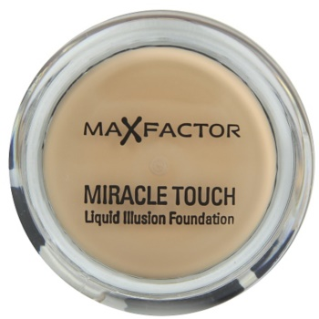 Max Factor Miracle Touch fondotinta per tutti i tipi di pelle colore 45 Warm Almond (Liquid Illusion Foundation) 11,5 g