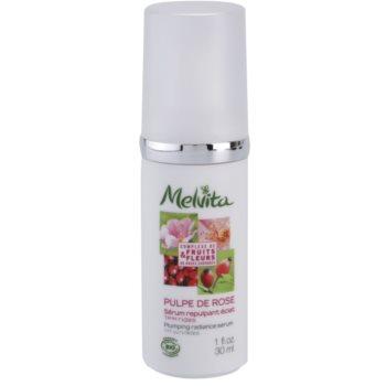 Melvita Pulpe de Rose siero illuminante contro i primi segni di invecchiamento della pelle Fruits & Fleurs (Plumping Radiance Serum) 30 ml