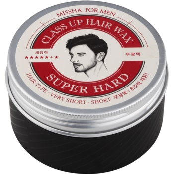 Missha For Men Class Up Hair Wax cera per capelli ultra fissante (Very Shord Hair, Super Hard) 90 g