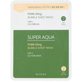 Missha Super Aqua Pore - Kling maschera in tessuto per pori dilatati 15 g