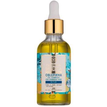 Natura Siberica Sea-Bucktorn olio per il trattamento dei capelli rovinati (No Parabens, No Silicons) 50 ml