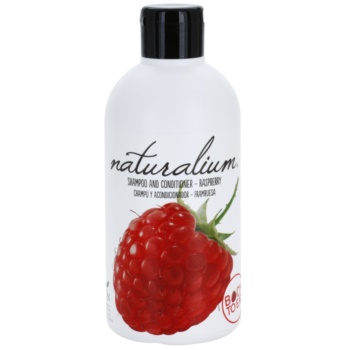 Naturalium Fruit Pleasure Raspberry shampoo e balsamo Raspberry (0% Parabens) 400 ml