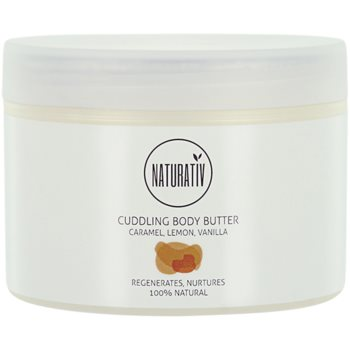 Naturativ Body Care Cuddling burro corpo effetto rigenerante Caramel, Lemon, Vanilla (vegan Cosmetic) 250 ml