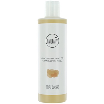 Naturativ Body Care Cuddling gel doccia delicato con glicerina Caramel, Lemon, Vanilla (Vegan Cosmetic) 280 ml