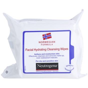 Neutrogena Face Care salviette detergenti per pelli secche e sensibili (Softens And Moisturises Skin) 25 pz