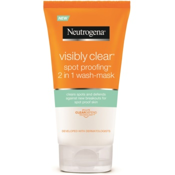 Neutrogena Visibly Clear Spot Proofing emulsione e maschera detergenti 2 in 1 (Oil Free 2 in 1 Wash – Mask) 150 ml