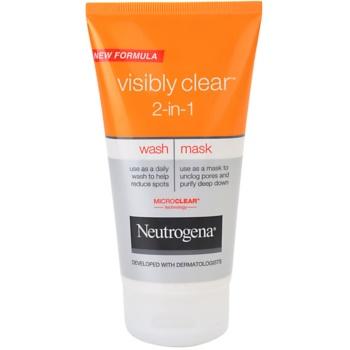 Neutrogena Visibly Clear 2-in-1 emulsione e maschera detergenti 2 in 1 (Wash – Mask) 150 ml