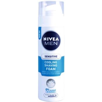 Nivea Men Sensitive schiuma da barba con effetto rinfrescante (0% Alcohol) 200 ml