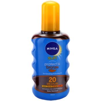 Nivea Sun Protect & Bronze olio abbronzante secco SPF 20 (Sun Spray) 200 ml
